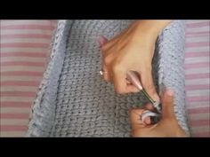 Penye ipten oval sepet yapımı - YouTube