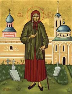 St Xenia (the fool for Christ) icon.