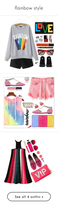 """""""Rainbow style"""" by simona-altobelli ❤ liked on Polyvore featuring Les Petits Joueurs, Bing Bang, NYX, L'Oréal Paris, Preen, Smith & Cult, Tory Burch, Big Bud Press, Kate Spade and M Missoni"""