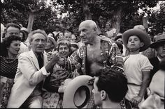 René Burri  Jean Cocteau & Pablo Picasso at a Bullfight  Vallauris, 1957