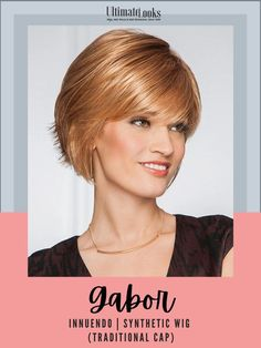 Reflecting a popular trend seen in today's top salons, this contemporary cut combines long, sleek layers in the front and sides with layered, textured ends in the back. #hairstyles #hairdo #hairoftheday #styleinspo #styles #styleoftheday #stylegram Modern Bob Hairstyles, Stacked Bob Hairstyles, Medium Bob Hairstyles, Trending Hairstyles, Hairstyles Haircuts, Wigs For Cancer Patients, Gabor Wigs, Short Hair Styles Easy, Bob Styles
