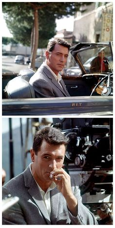 Rock Hudson during the filming of Come September (1961), photos by Leo Fuchs
