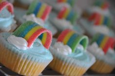 Rainbow cupcakes decoration by Mealy and I