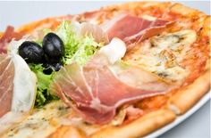 Pizza Capricciosa:I did it a few days ago!If it was for me,I'd do it everyday!I usually prepare it with black olives only,and sometimes I put on it a hard-boiled egg too! |Italian Food Net