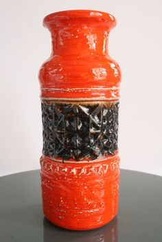Another Orange Jasba Vase