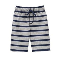 Boys Heather Grey Striped Shorts by Gymboree