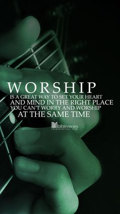 When you take the time to realize how great, awesome, and wonderful God is, and to tell him that through worship; It puts your life into perspective and makes living for Him a privilege and not an obligation.