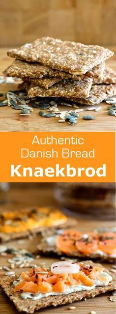 Denmark: Knækbrød (Crispbread) Knækbrød is a rye flour cracker with various seeds widely consumed in Scandinavia, as well as the Netherlands and the U. Nordic Diet, Denmark Food, Nordic Recipe, Finnish Recipes, Savoury Biscuits, Homemade Crackers, Scandinavian Food, Scandinavian Office, Lunches
