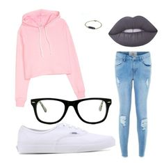 """""""ѕchσσl"""" by evansamie ❤ liked on Polyvore featuring Lime Crime, Muse and Vans"""