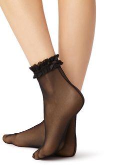Ankle High Socks, Socks And Heels, Sheer Socks, Lace Socks, Fashion Socks, Fashion Heels, Pantyhose Heels, Nylons, Heels Outfits