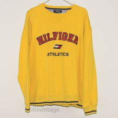 Vintage XL Tommy Hilfiger Athletics Sewn On Embroidered Flag Pullover Sweatshirt | Clothing, Shoes & Accessories, Men's Clothing, Sweats & Hoodies | eBay!