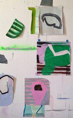 Studio wall #studioshot, Sarah Boyts Yoder, 2015.