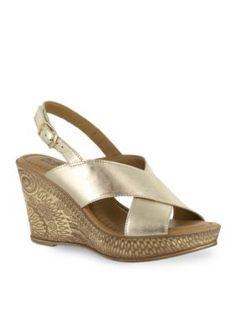 Bella-Vita Gold Lea-Italy Sandal