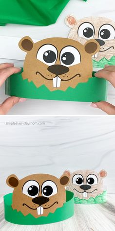 Looking for a fun and easy Groundhog Day crafts for the kids to make? Try out this groundhog Headband craft. It comes with a free printable template to make from paper or print it out in black-and-white for kids to color in. It's great for school or home! Animal Crafts For Kids, Fun Crafts For Kids, Crafts To Do, Groundhog Day Activities, Quiet Time Activities, Headband Crafts, Kids Headbands, Paper Bag Crafts, Paper Bag Puppets