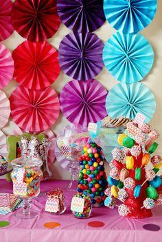 "Photo 1 of 18: Rainbow Party / Birthday ""Kynadi's 4th Birthday Party"" | Catch My Party"