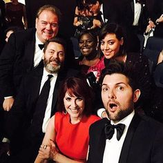 Some of the Parks and Rec cast at the Emmys! It's so nice to see them together again. ❤️