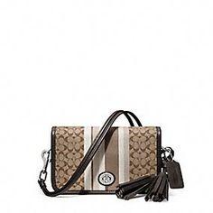 14e583169970 LEGACY SIGNATURE STRIPE PENNY SHOULDER PURSE Michael Kors Handbags Outlet