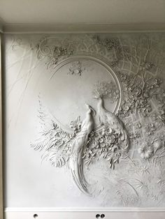 Artist Brings Rooms to Life With Impressionist-Inspired Relief Sculptures on Walls : High Relief Sculpture by Goga Tandashvili