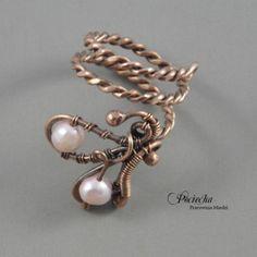Pearl wings, pierścionek z perłami rzecznymi