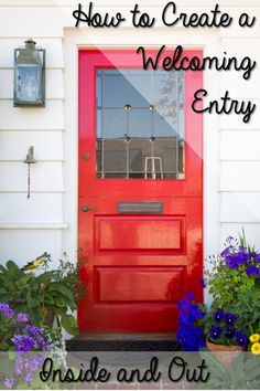 New house door design bright red front door to house with window and mail slot home door design picture Feng Shui, House Doors, Up House, Home Door Design, House Design, Porch Decorating, Interior Decorating, Decorating Ideas, Picture Design