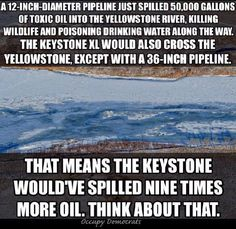 Dirty oil POLLUTING the WATER, the Environment!!! REPUBLICANS are ok with it... GREED RULES!!!