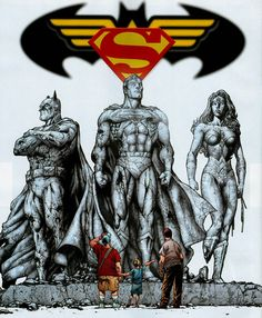 They walk among us Dc Comics Superheroes, Dc Comics Art, Marvel Dc Comics, Comic Pictures, Comic Pics, Superman, Batman, Dc Trinity, Wonder Woman