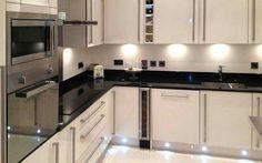 """Attēlu rezultāti vaicājumam """"colour schemes in cream gloss kitchen"""" Kitchen Cabinet Design, Kitchen Interior, Kitchen Decor, Kitchen Cabinets, Kitchen Ideas, Cream Cabinets, Kitchen Pictures, White Cabinets, Outdoor Kitchen Sink"""