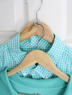Double up your hangers with a soda can tab for instant closet space.