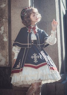 LolitaWardtobe - Bring You the latest Lolita dresses, coats, shoes, bags etc from Trustworthy Taobao indie Brands. We never resell Lolita items from untrustworthy Taobao stores. Harajuku Fashion, Kawaii Fashion, Cute Fashion, Asian Fashion, Fashion Outfits, Rock Fashion, Fashion Boots, Mode Lolita, Mode Steampunk