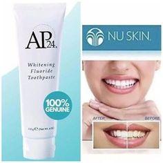 Ap 24 Whitening Toothpaste, Best Teeth Whitening, Nu Skin, Dental, Anti Aging Skin Care, Health And Beauty, Perfume, White Teeth, Bossbabe