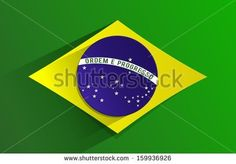 Creative Abstract Flag of Brazil Background - stock vector