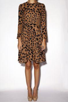 Hampden Clothing - Full Skirt Leopard Dress, $695.00 (http://shop.hampdenclothing.com/full-skirt-leopard-dress/) @Jenni Juntunen Kayne