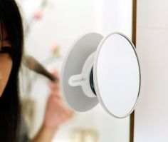 Magnetic suction mirror - It is available in a traditional or a 5x magnifying version.The suction cup enables you to fix it securely on glass, on another mirror - a very practical solution especially with the magnifying version which is perfect for colouring eyebrows or applying makeup with precision – on tiles or any other plastic or metal surface. Available on FormAdore.com