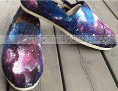 Christmas Galaxy Shoes Galaxy Nebula Custom Canvas #Shoes Hand Pa
