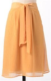 I love the waistband and the soft flow of this skirt!  @Marci Cloughley Basics #SpringStyle