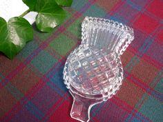 SALE Vintage Scottish Thistle Glass by Mycousinmorag