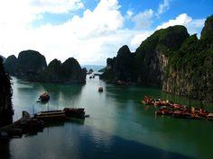Bahía de Ha-Long.  Vietnam. Siete maravillas naturales del mundo