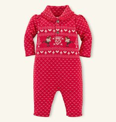 Bear Cotton Fleece Coverall