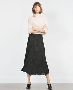 画像 1 の 縄編みスカート ザラから
