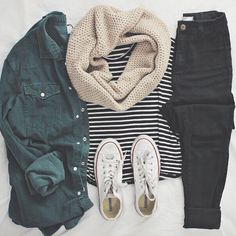 Cute Casual Winter Fashion Outfits For Teen Girl – Tumblr Outfits, Mode Outfits, Girl Outfits, Look Fashion, Teen Fashion, Womens Fashion, Fall Fashion, Fashion Outfits, Fashion Trends