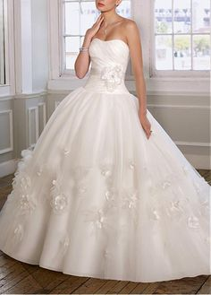 STUNNING ORGANZA SATIN STRAPLESS BALL SKIRT WEDDING DRESS LACE BRIDESMAID PARTY COCKTAIL EVENING GOWN IVORY WHITE