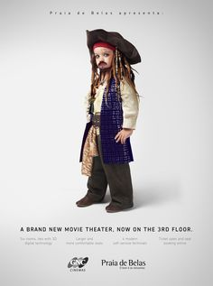 Jack Sparrow - Personagens mirins de filmes famosos | Criatives