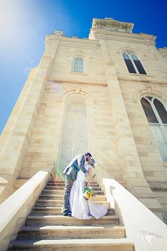 Manti Temple Staircase Wedding - http://www.everythingmormon.com/manti-temple-staircase-wedding/  #mormonproducts #LDS #mormonlife