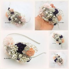Headband Fascinator Bridal Maid of Honor Wedding by SolBijou