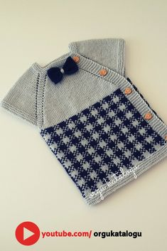 Let's learn together your own fashion accessories, basic and other creative points, techniques and tips to learn or develop the art of crochet and kni. Baby Boys, Baby Boy Vest, Baby Knitting Patterns, Hand Knitting, Moda Emo, Vest Pattern, Crochet, Pretty, Savannah