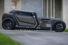 Sbarro Eight Hotrod Concept 3.2 liter twin turbo Masserati V8 engine that turns out 368 horsepower