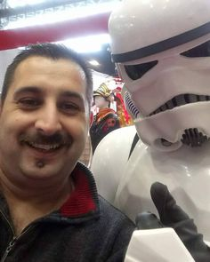 Hussein Al-alak and a Storm Trooper at the MCM Comic Convention in #Manchester.