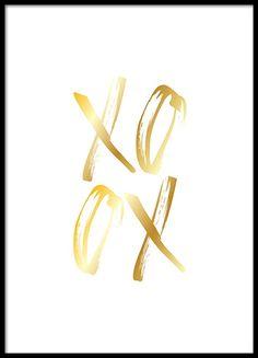 XO Gold Poster en el grupo Pósters / Tamaños / 50x70cm con Desenio AB (2186)