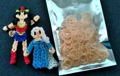 Finally I now have the skin tone bands. I bought it at Giant, Rimba. And there are 200g of those in that packet for B$2 :D It is easy for me now to make figurines :) And as you can see on the picture above, I have recently made Queen Elsa from Frozen charm and Wonder Woman figurine.