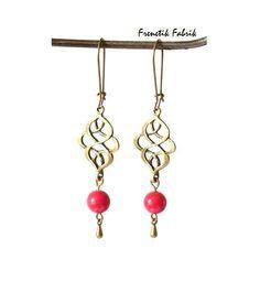Boucles d'Oreilles ★Elisa Jade Rouge★  von Frenetik Fabrik auf DaWanda.com